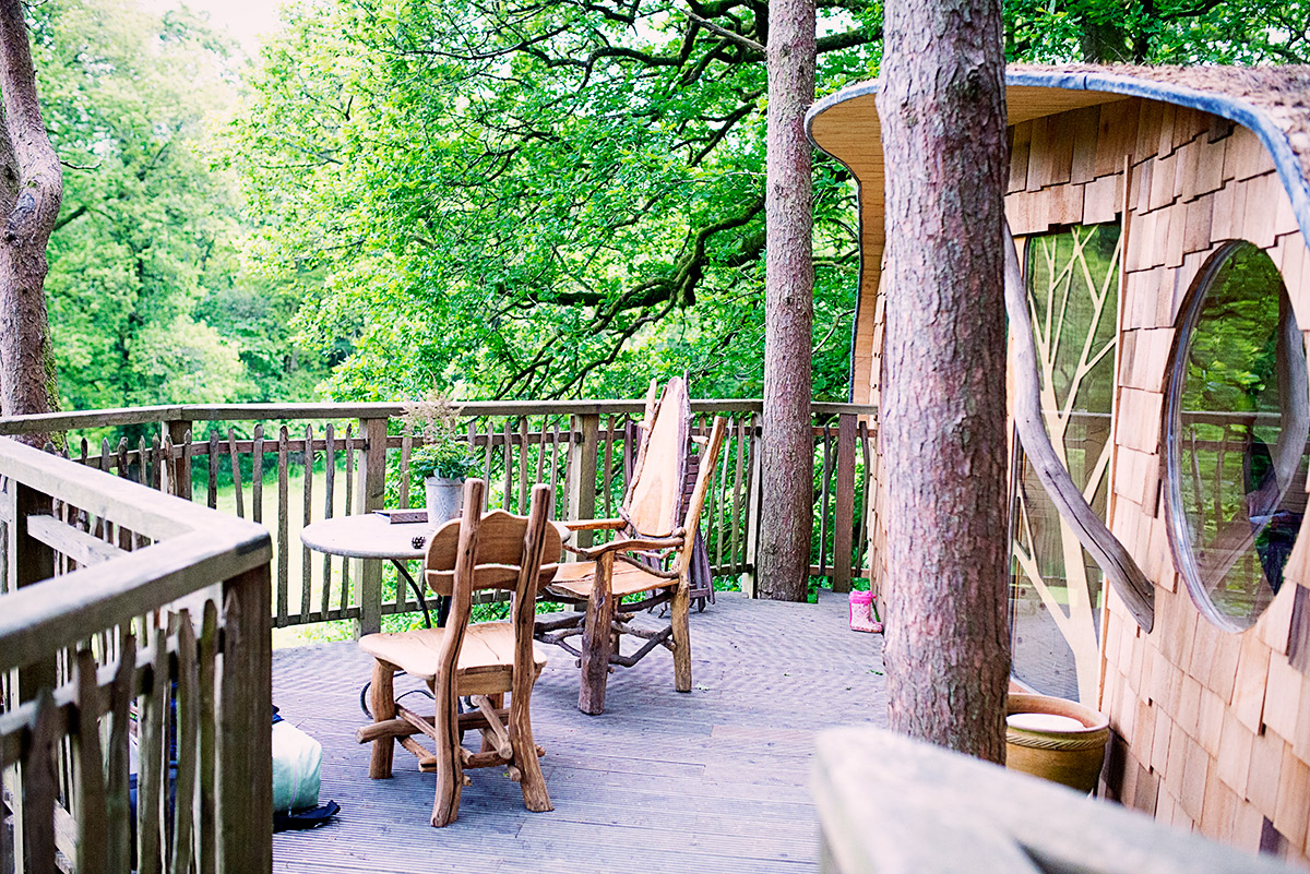 tree house stay Wales