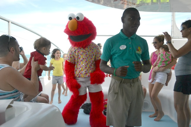 Elmo Sesame Street on catamaran cruise, Beaches