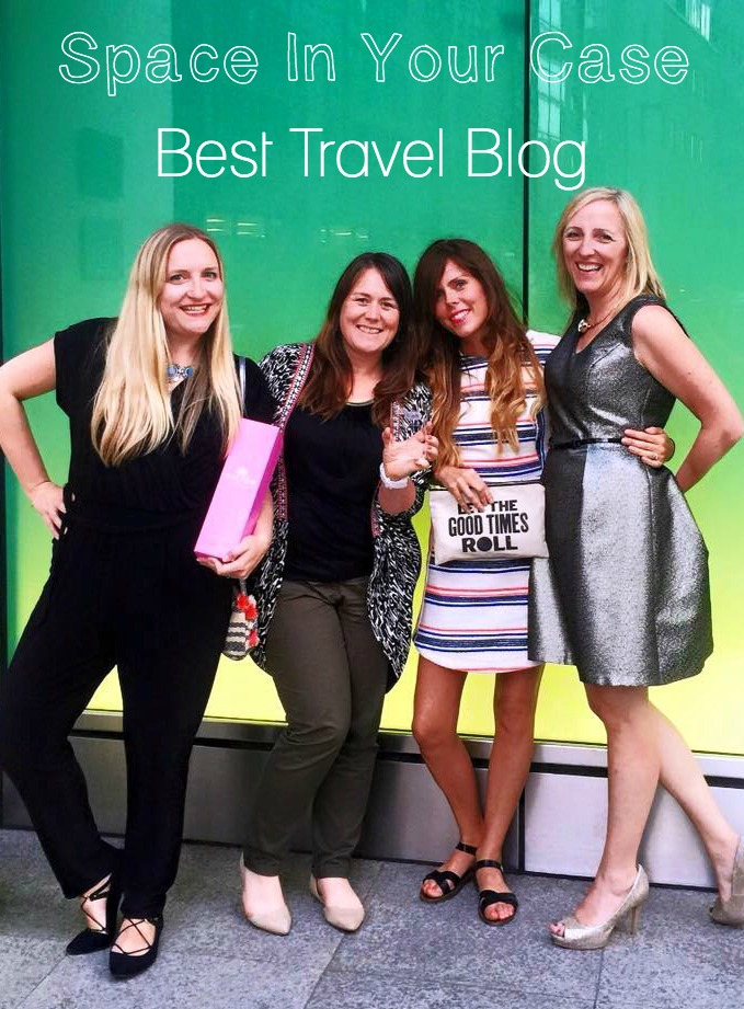 Space In Your Case wins Best Travel Blog at the 2015 BritMums Brilliance in Blogging Awards