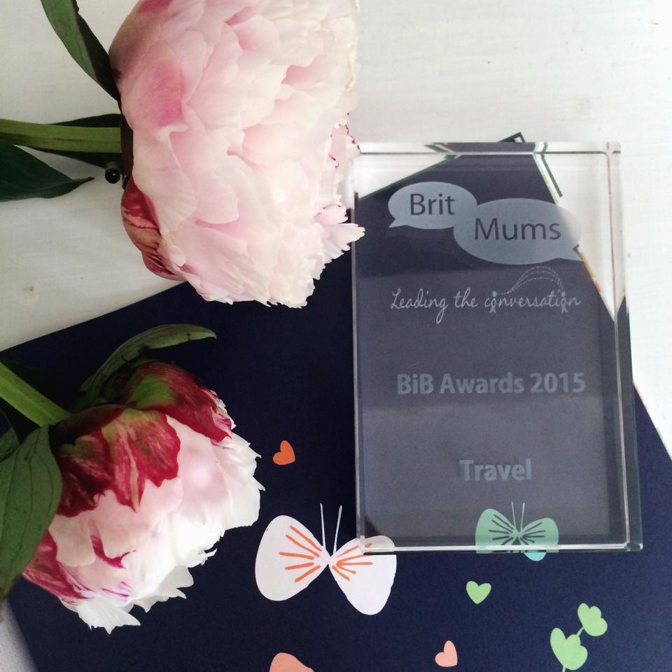 And the BritMums Brilliance in Blogging Award for Best Travel Blog 2015 goes to Space In Your Case!