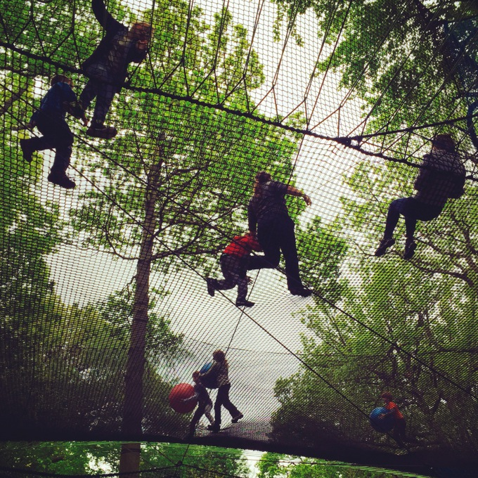 Lake District family days out and adventures, TreeTop Nets, Brockhole