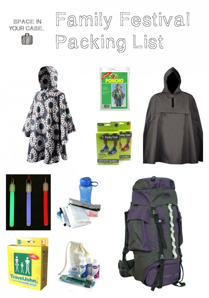Whats In Your Case:  Family Festival Packing List plus Giveaway