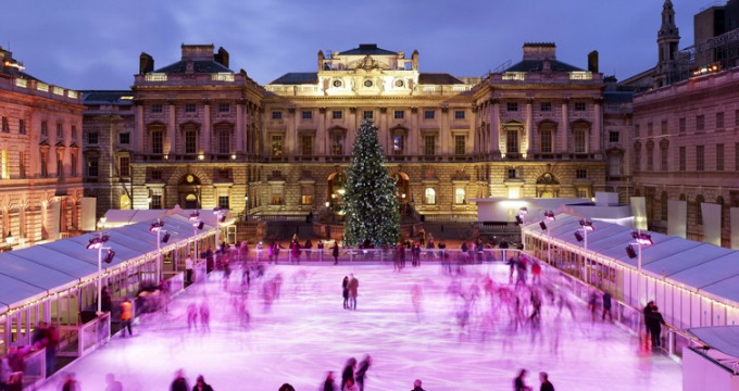 Christmas events for familes in London - skate at Somerset House