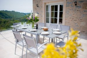 The cottages at La Ferme du Cayla are stunning, and designed to offer the best in luxury to families on holiday in France