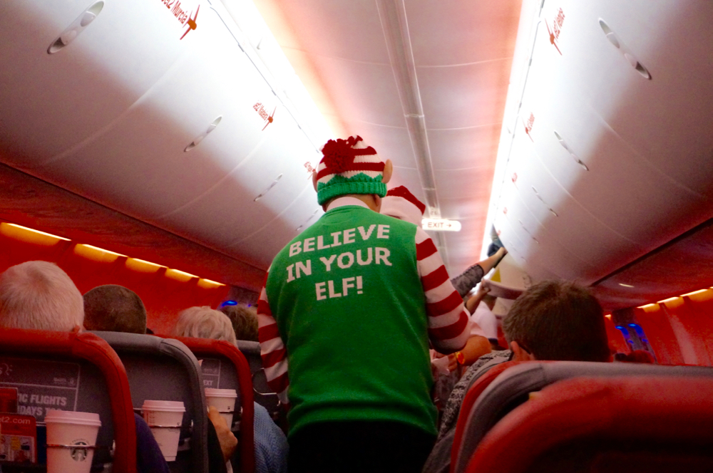 Santa's lapland, the flight over with Jet2